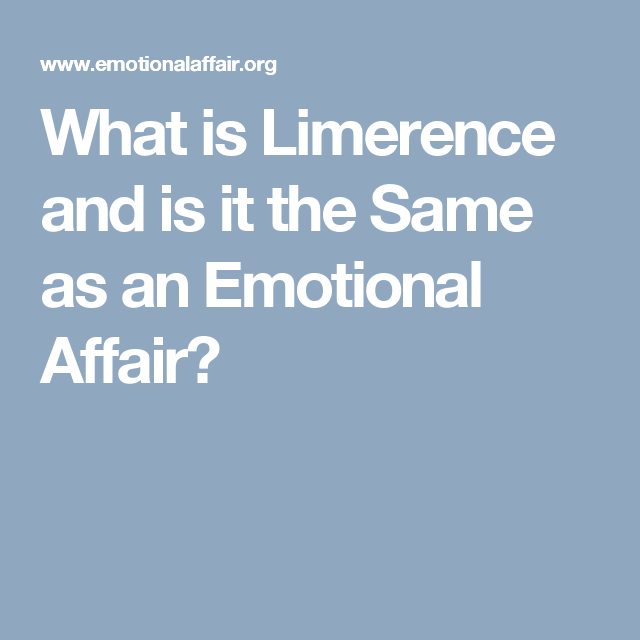 Limerence Affair Recovery