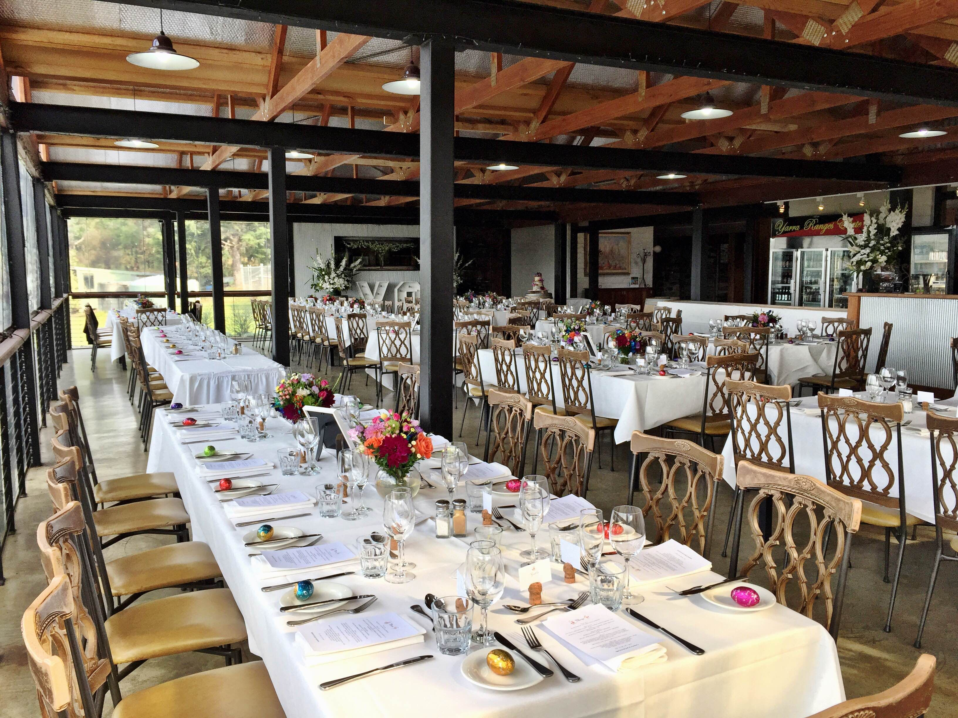 The Function Room At Yarra Ranges Estate Winery Wedding Yarra