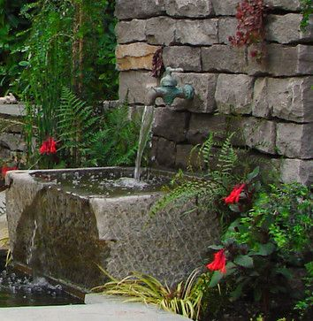 Traditional Home Fountains Design, Pictures, Remodel, Decor and Ideas - page 3 #waterfeatures