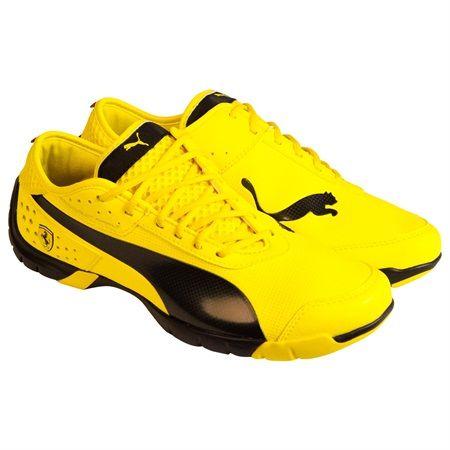 c0b210f4dc6da7 Puma Ferrari Future Cat SL SF NM Vibrant Yellow Black Mens Lace Up Sneakers