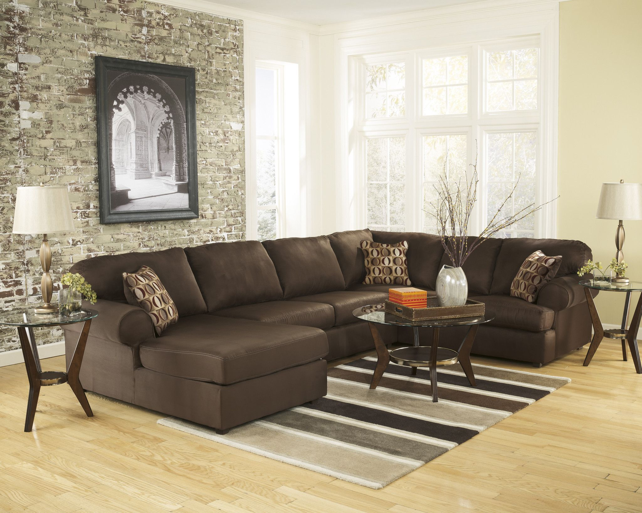 Cowan Sectional in Chocolate Products Pinterest