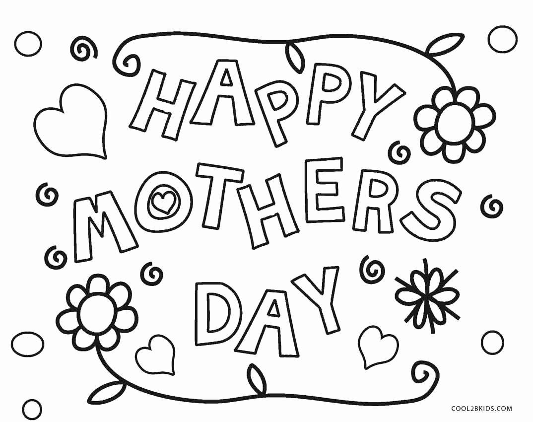 Mothers Day Coloring Sheets Printable New Free Printable Mothers