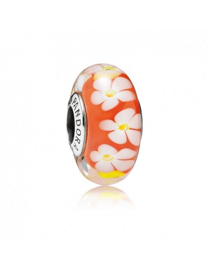 Pandora Charms Soldes | Achat Soldes - Pandora Fleur Orange Verre ...