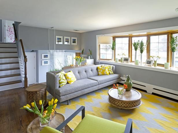 Contemporary Living rooms from Anthony Carrino on HGTV grey at the