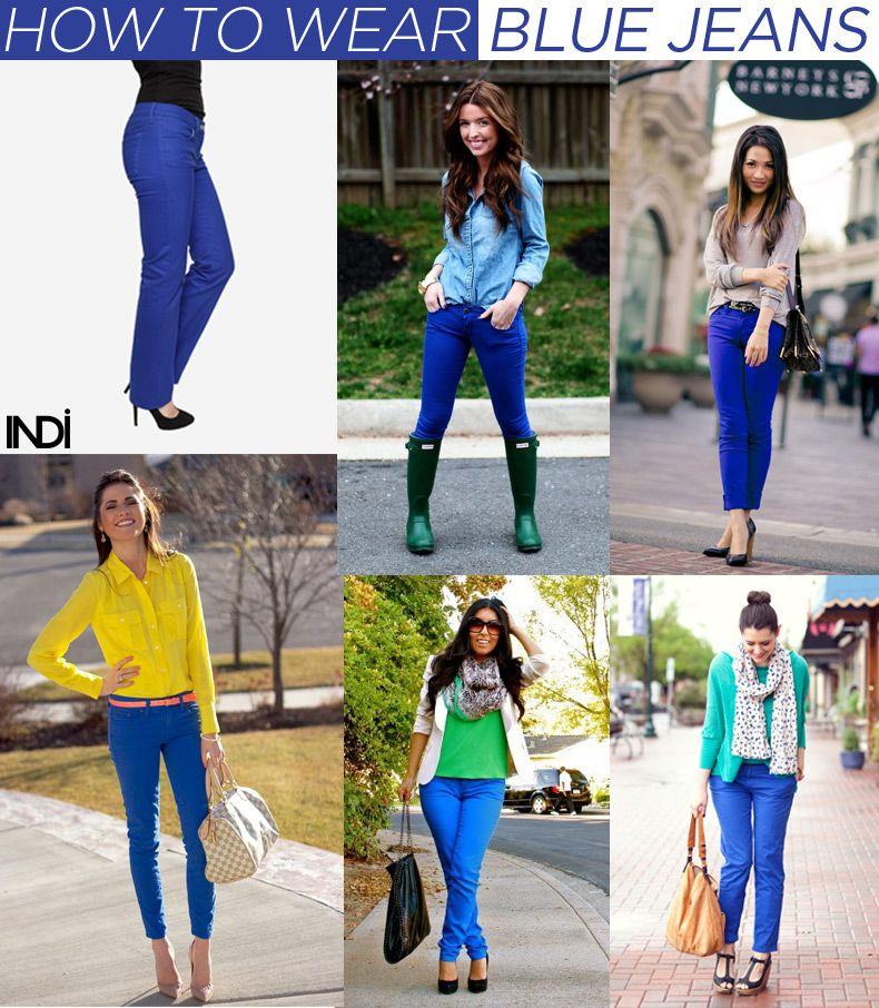 C mo usar jeans azul rey likethis looks for Combinaciones con azul