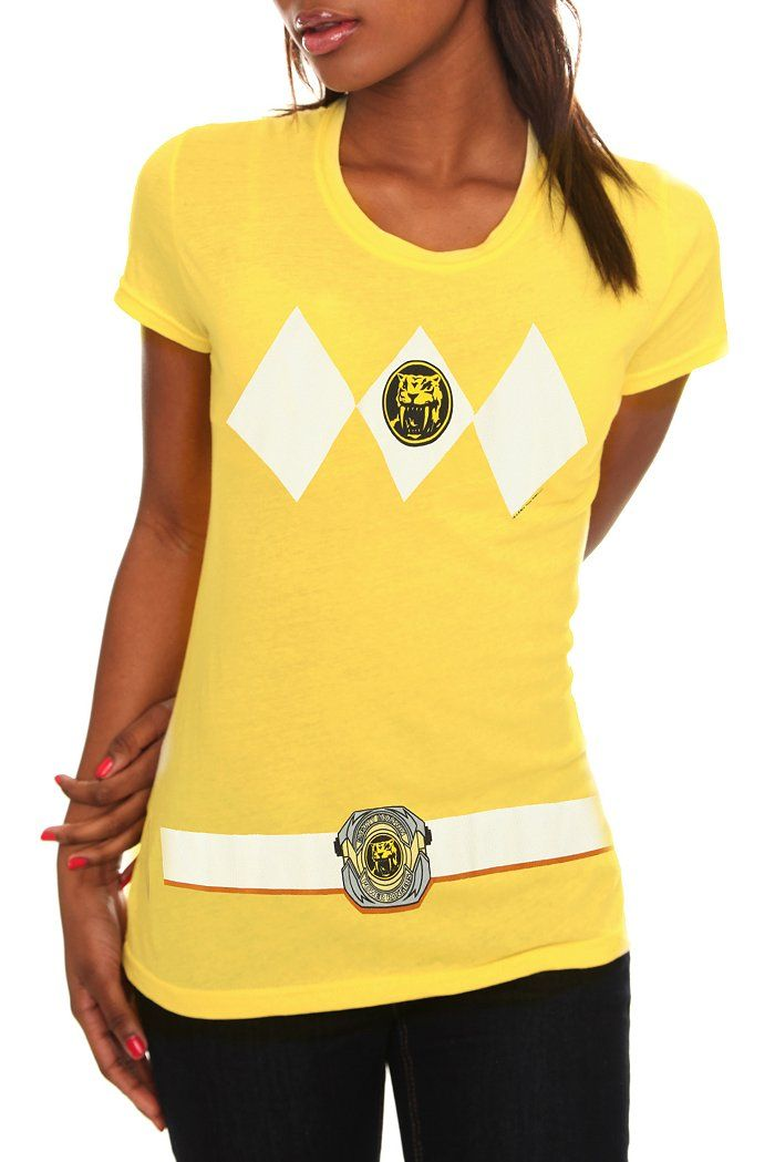 83ad3ca9f41 Mighty Morphin Power Rangers Yellow Ranger t-shirt. I NEED THIS ...