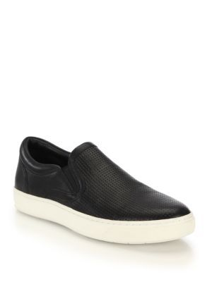 VINCE Ace Perforated Slip-On Sneakers. #vince #shoes #sneakers
