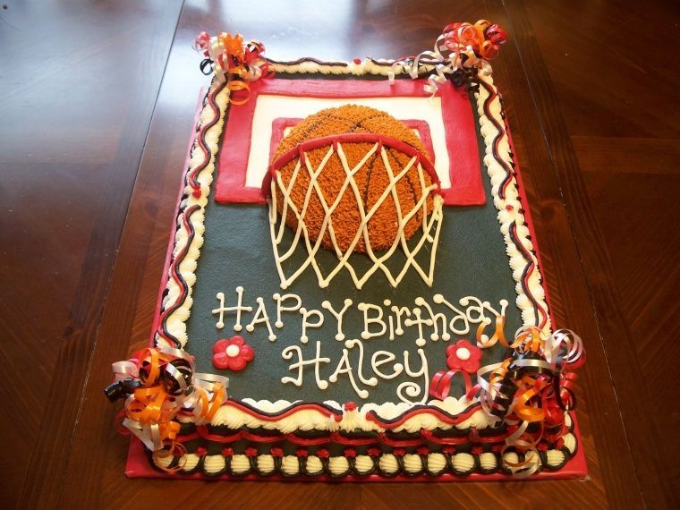 Basketball Cake Just a sheet cake for a little girls birthday
