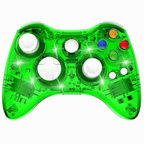 Wireless Xbox 360 Controller Double Motor Vibration Wireless Gamepad Gaming Joypad Green