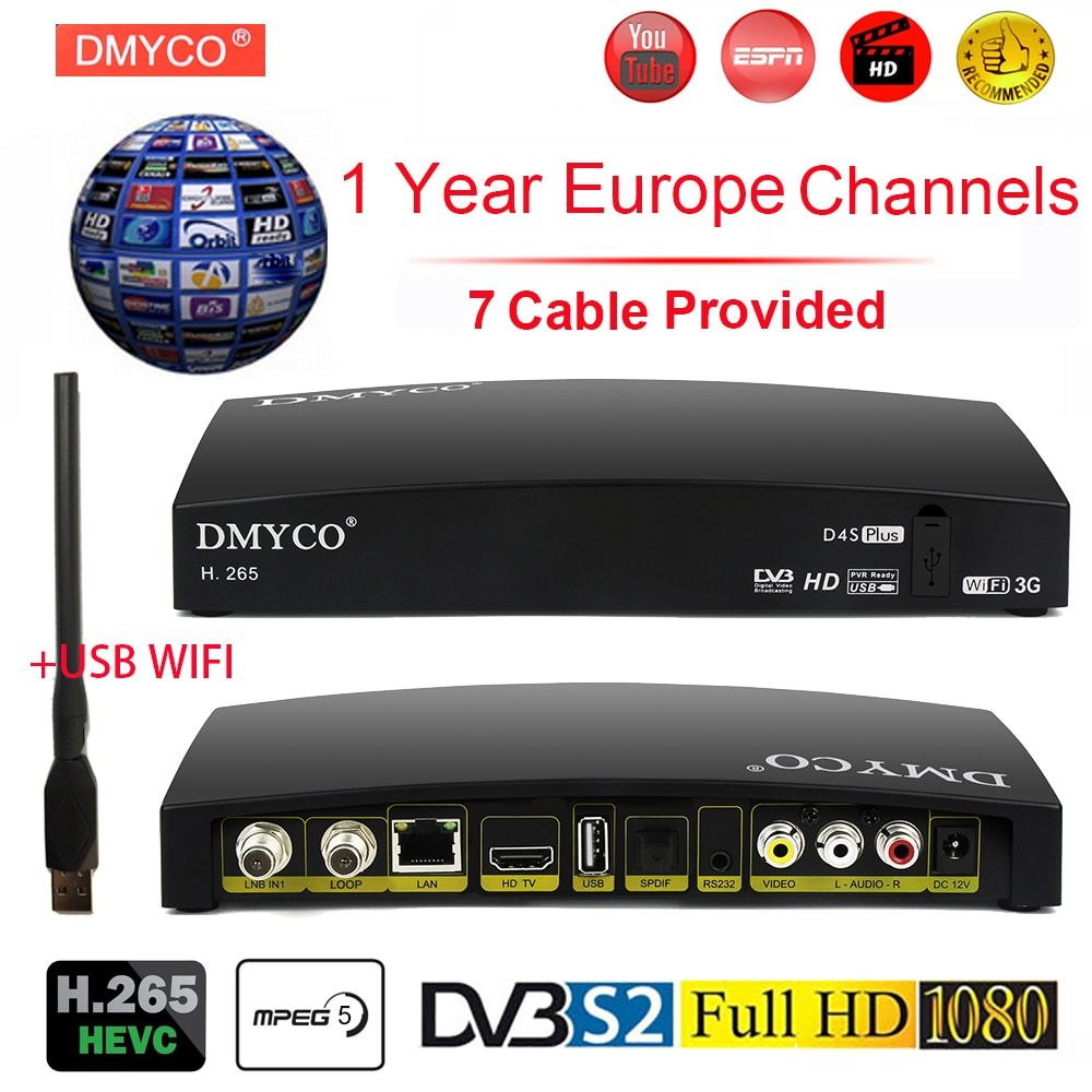 Original Satellite Receiver D4s Plus Hd Europe Channels For 1 Year Spain Dvb S2 Satellite Receiver H 265 Tv T Satellite Tv Satellite Receiver Video L