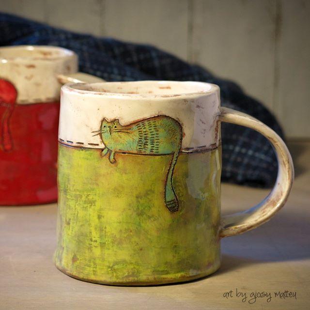 "Giosy Matteu on Instagram: ""i love ceramic, love mug of tea...love cats..."