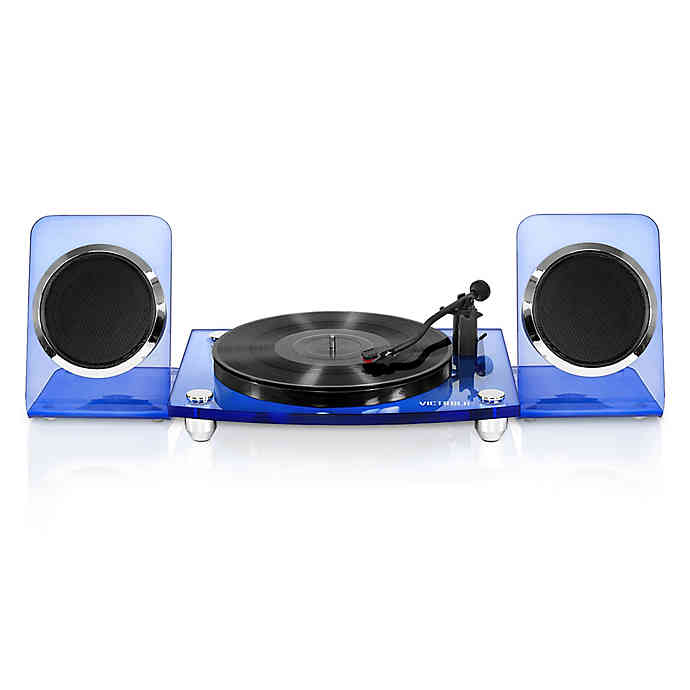 Victrola 2 Speed Record Player With Bluetooth Speakers In 2020 Bluetooth Record Player Record Player Turntable