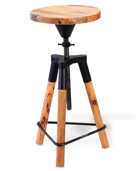 New Wood and Metal Stools