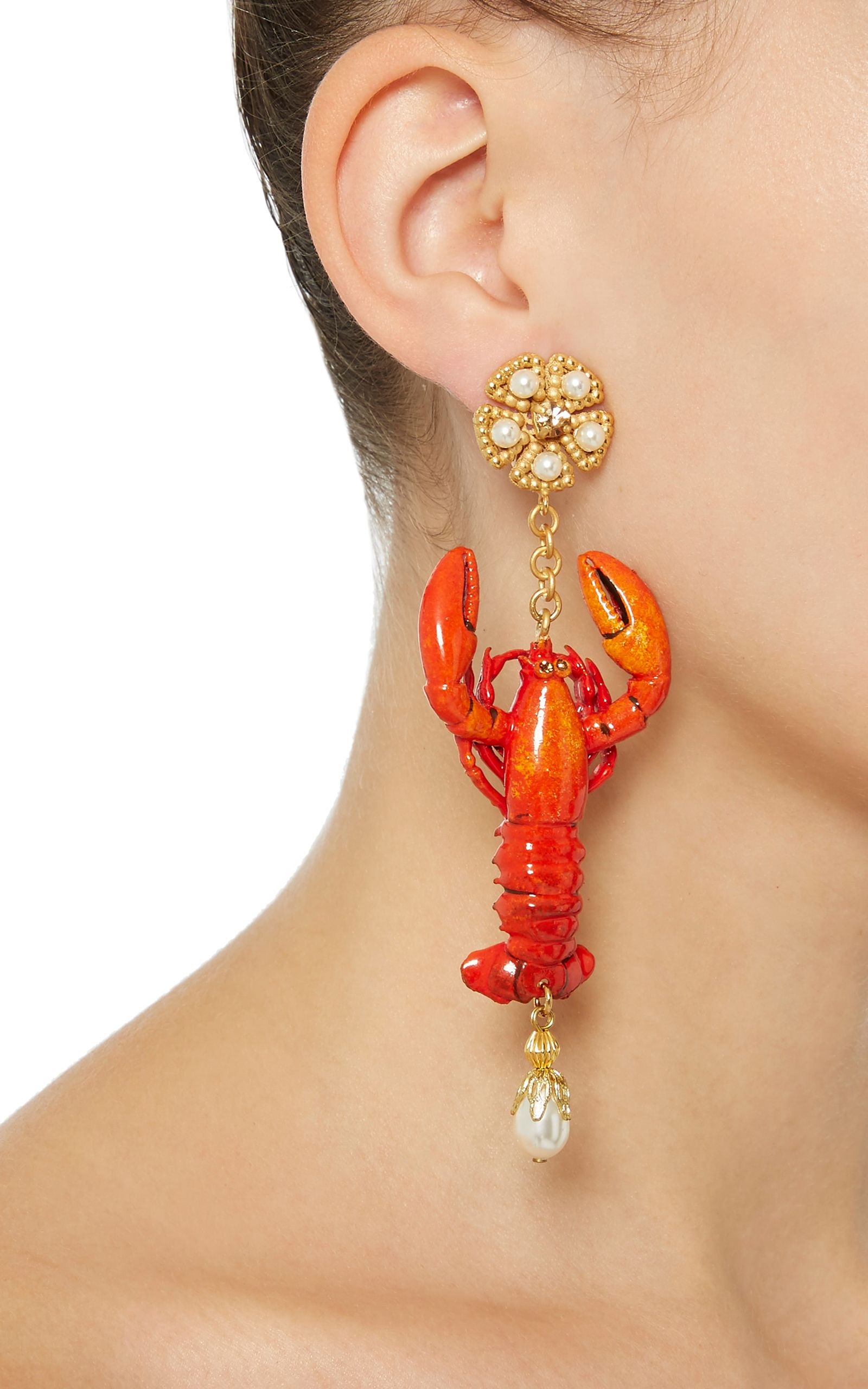 dolce gabbana lobster earrings unusual accessories pinterest schmuck. Black Bedroom Furniture Sets. Home Design Ideas