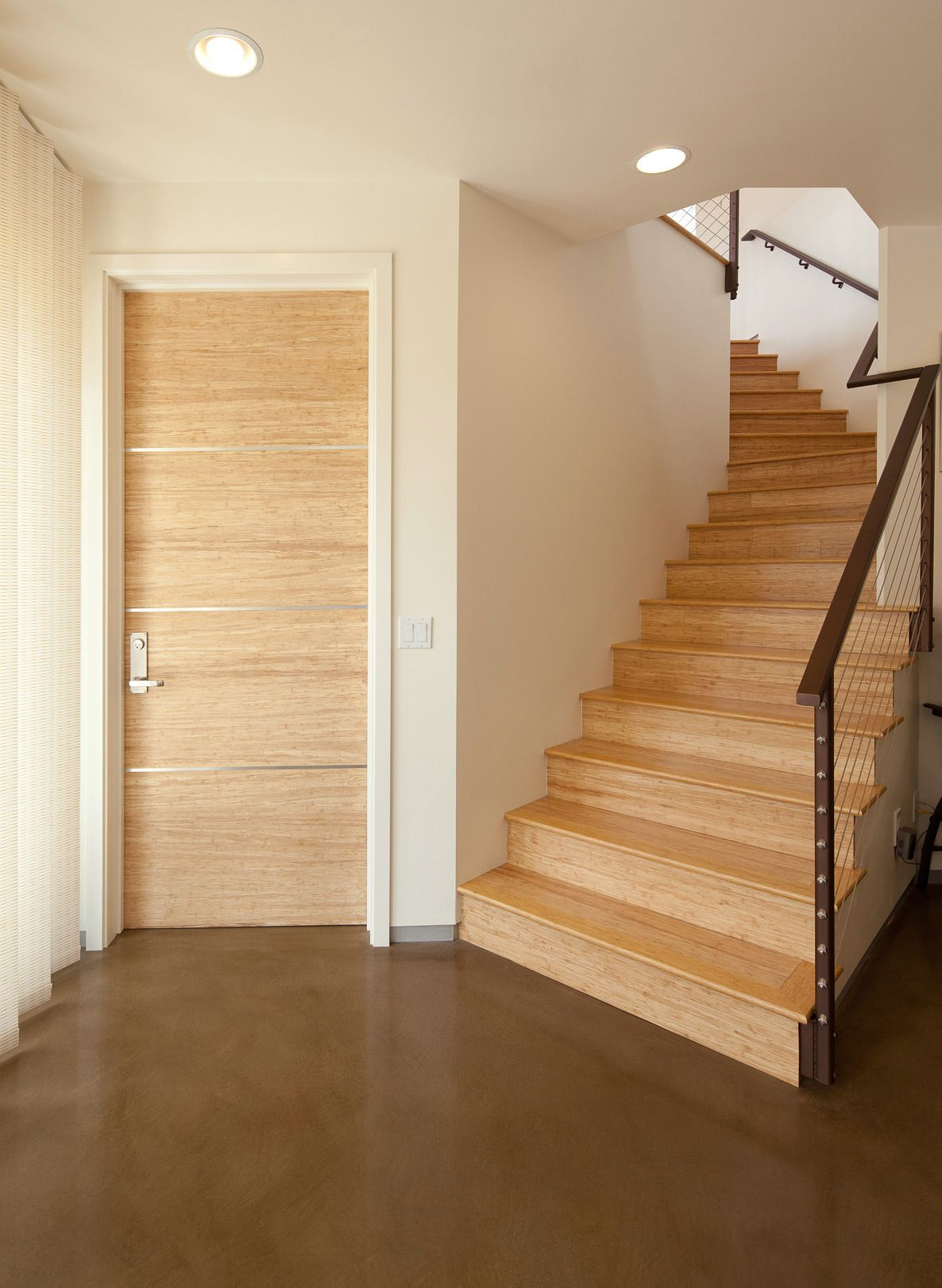 Bamboo Door Bamboo Stairs Dream House Pinterest Doors
