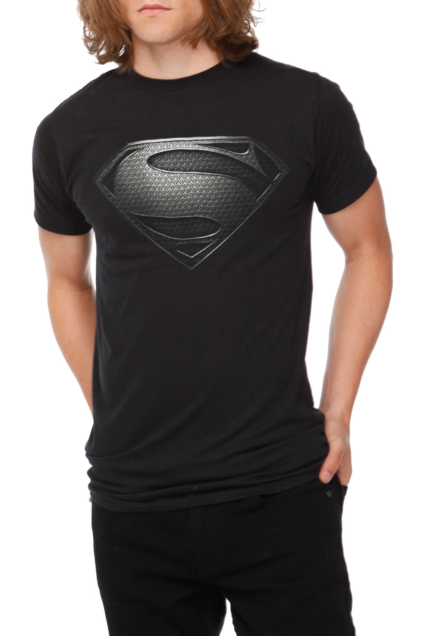 DC Comics Superman Man Of Steel Silver Logo T-Shirt  20.50  cf855e007