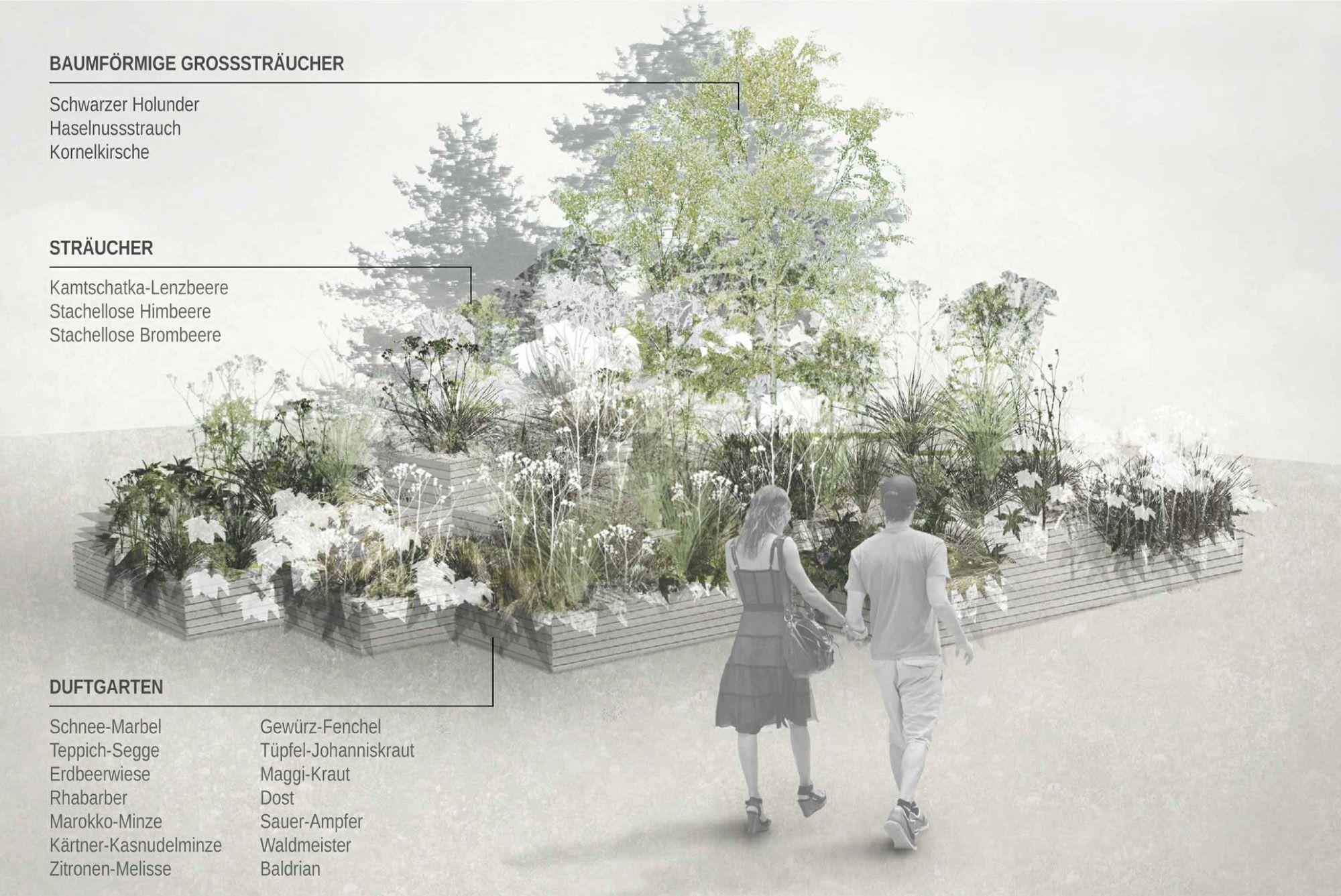 2. Preis: Pixelgarten, © DnD Landschaftsplanung | 나주ㅇ ...