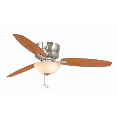 Hampton Bay Rapallo 52 In Indoor Brushed Nickel Ceiling Fan With