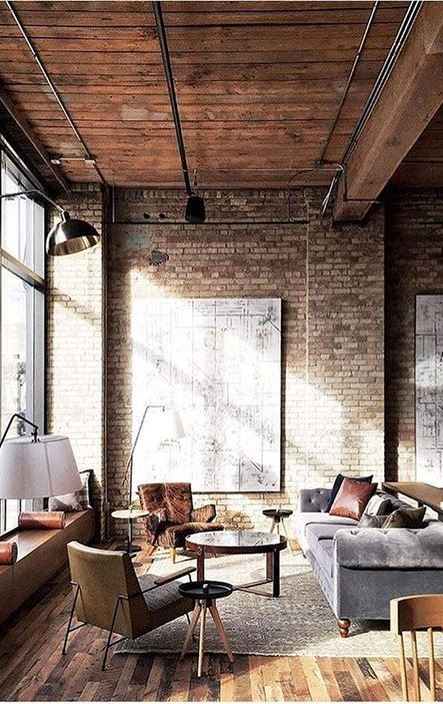 40 Rustic Living Room Ideas To Fashion Your Revamp Around: 40+ Urban Style Interior Design Ideas