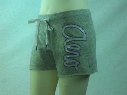 Aeropostale-Womens-Juniors-Beach-Cutoff-Sweat-Shorts-Gray-Size-M