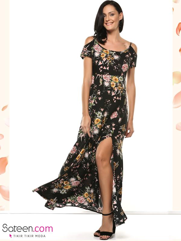 139 570 Omuzu Acik Uzun Elbise Elbise Elbise Modelleri The Dress