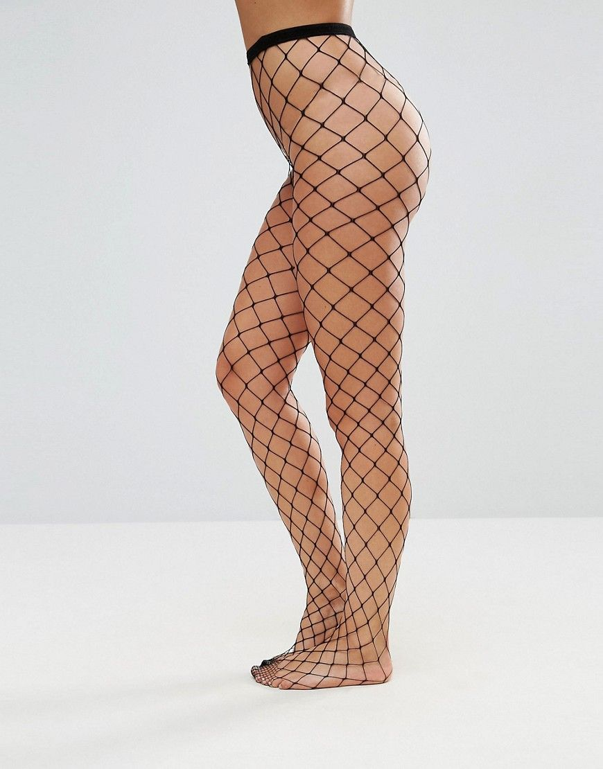 ee780d6bde7c14 ASOS 2 Pack Oversized Fishnet Tights In Black And White - Multi