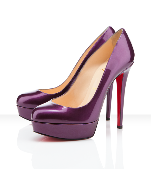 christian louboutin purple bianca pump would so wear these under rh pinterest com