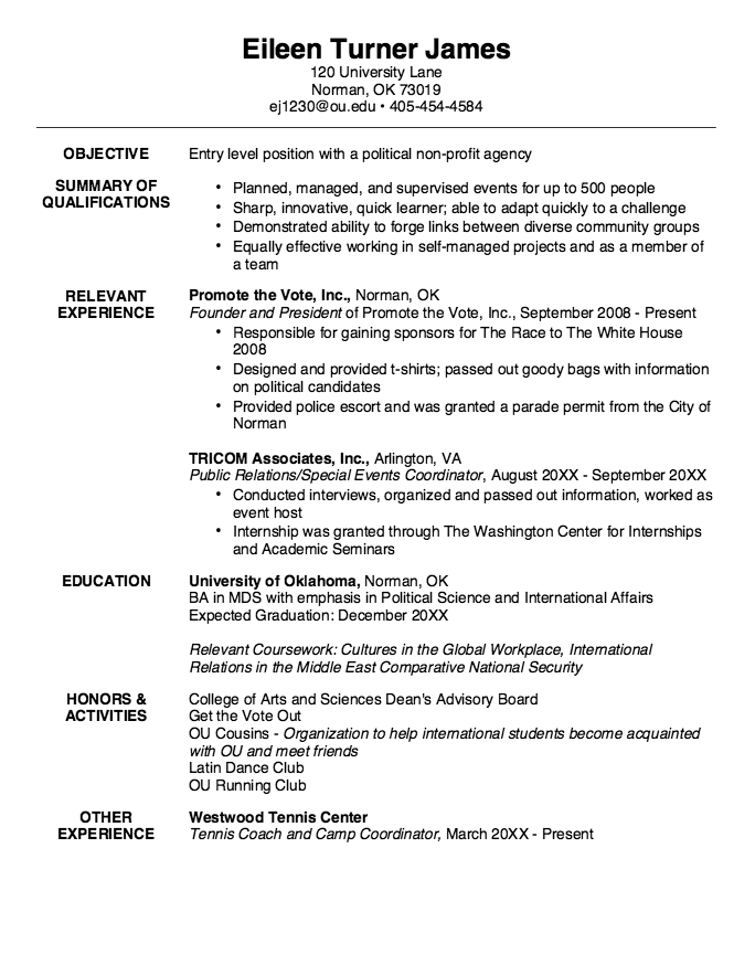 Example Of Multidisclipinary Studies Resume Examples Resume Cv