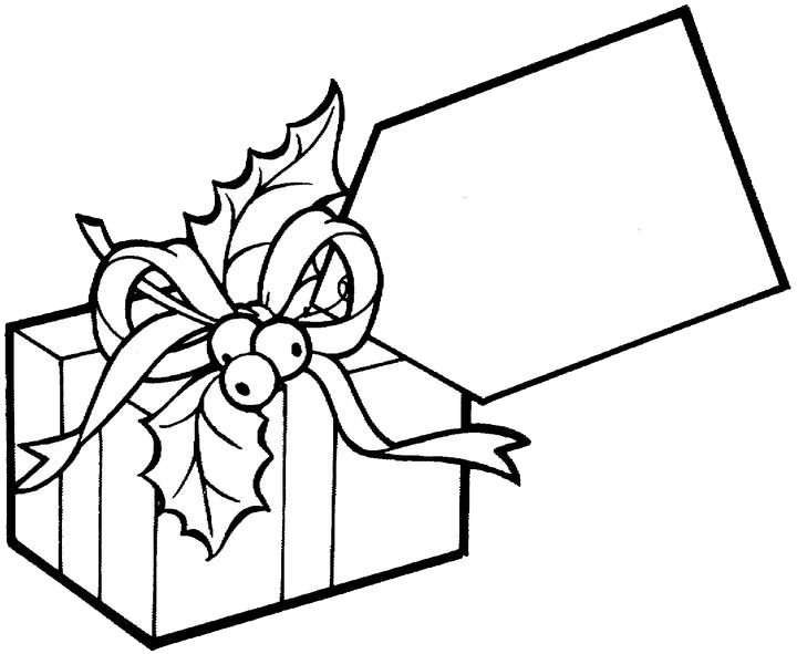 Coloring Picture of a Present | Christmas Gift Coloring Pages 2 ...