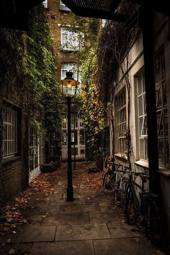 London Alleyway at Playhouse Court #autumnscenery