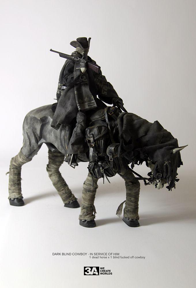 Dark Blind Cowboy In Service Of Him Dead Equine Superset Kitchen Blinds Vertical Diy Blinds Curtains With Blinds