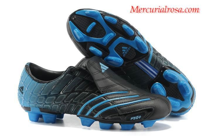 huge discount 41d4b 80ae6 Adidas F50+ TRX FG Soccer Cleats Black Blue Soccer Cleats