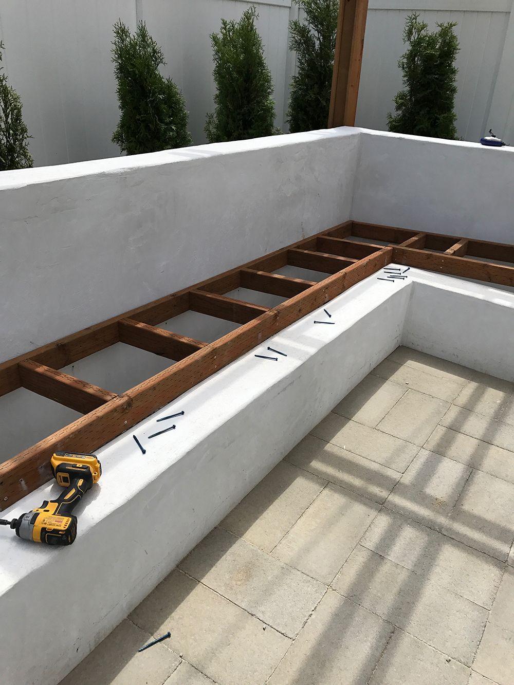 Custom outdoor seating diy concrete seating cinder blocks
