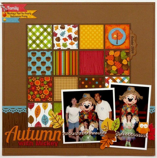 Layout: A Doodlebug Happy Harvest Disney Layout by Mendi Yoshikawa