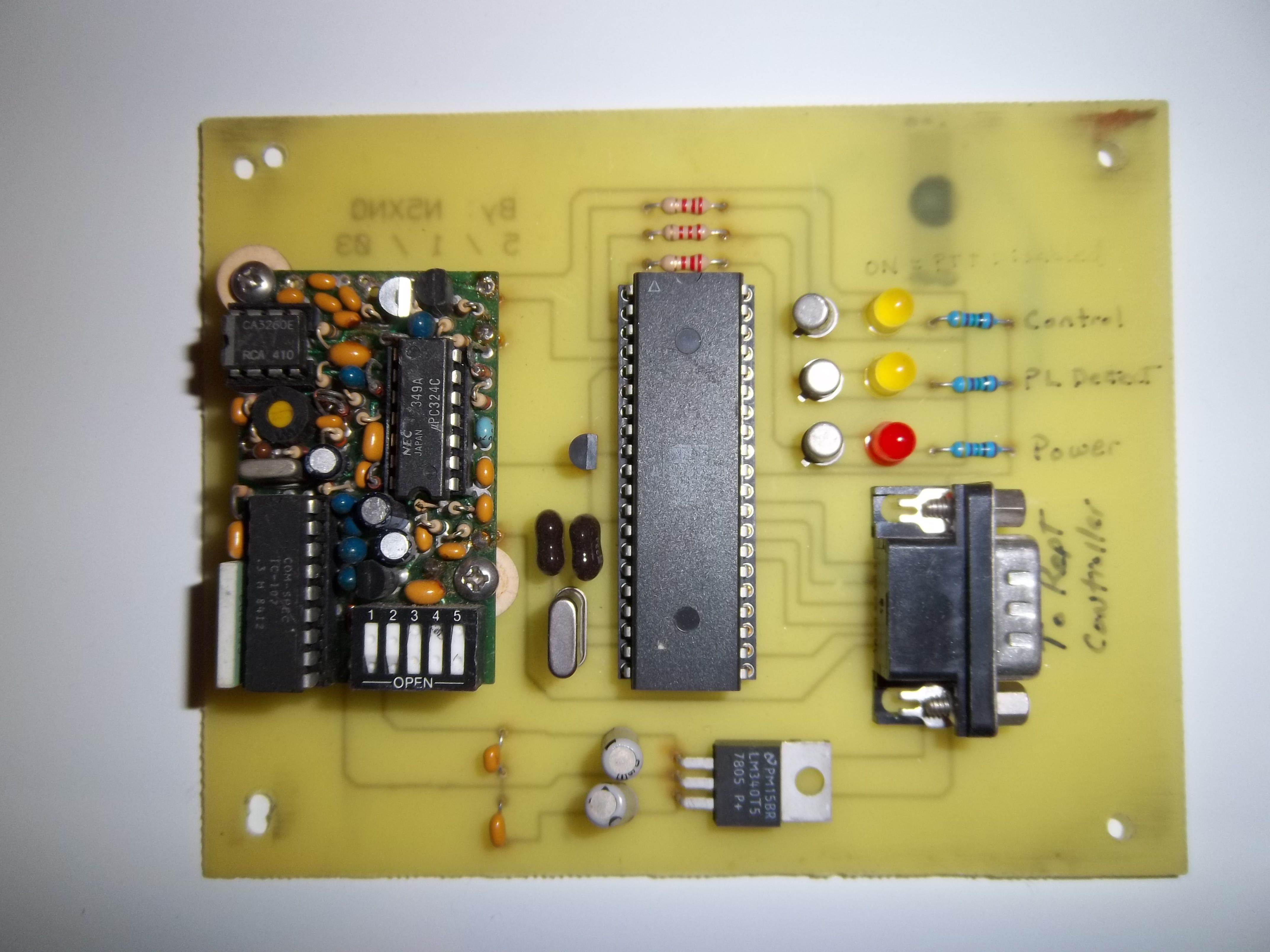 Here is a homebrew radio repeater controller  The controller is