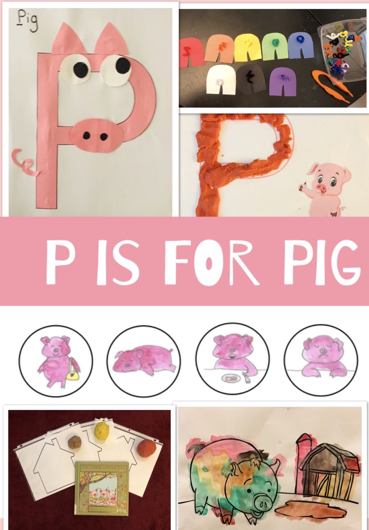 P Is For Pig Activity Booklet