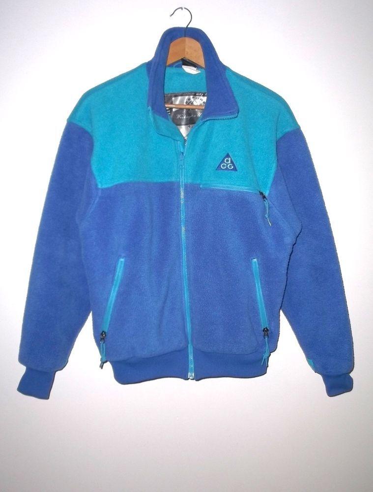 abc62b9e992e2 EUC Rare Nike Vintage ACG St. Helens Full Zip Fleece Jacket S Blue ...
