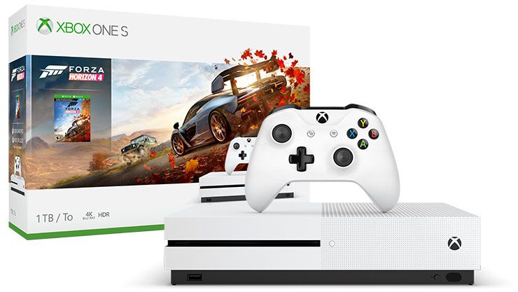 Console And Box Shot Of Xbox One S Forza Horizon 4 Bundle 1tb Xbox Xbox One Xbox One Console