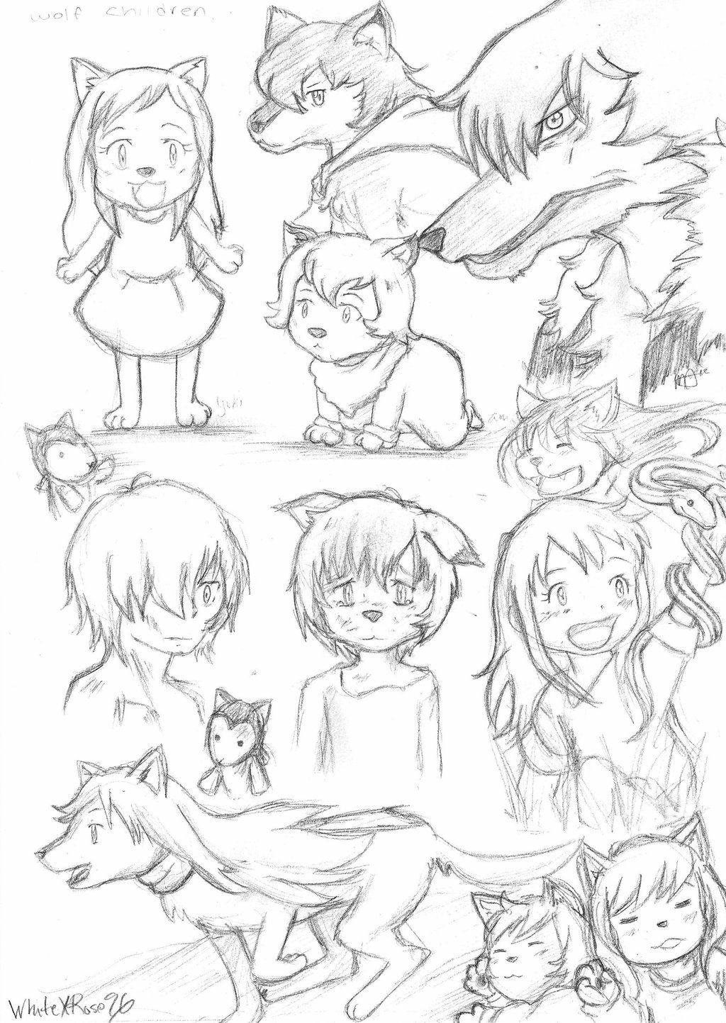 drawing of children wolf children sketches by whitexrose96 deviantart com on 4035