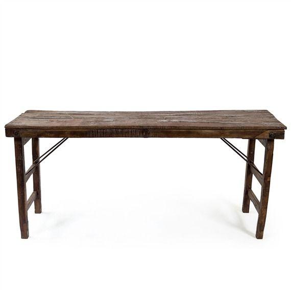 Vintage Wood Folding Wedding Table Vintage Wood Barrel Decor