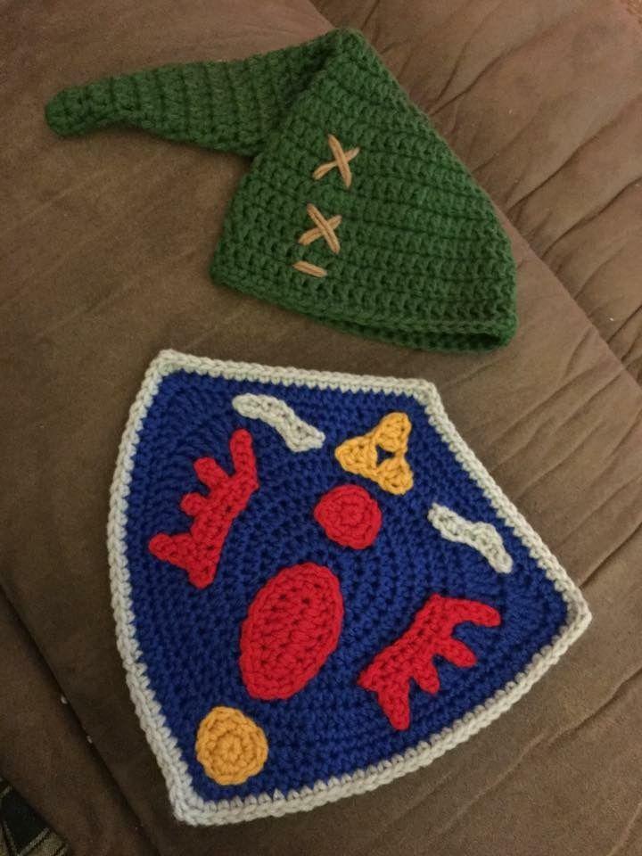 Crochet Link hat and shield (Legend of Zelda), Hyrule | Holly\'s ...