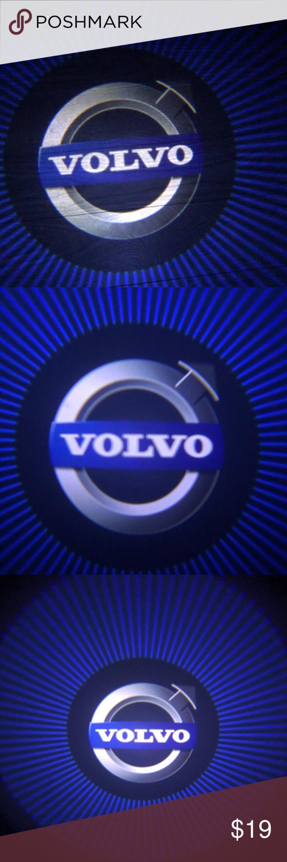 Volvo 2x cars logo wireless door lights led shadow & Volvo 2x cars logo wireless door lights led shadow NWT | Car logos ...