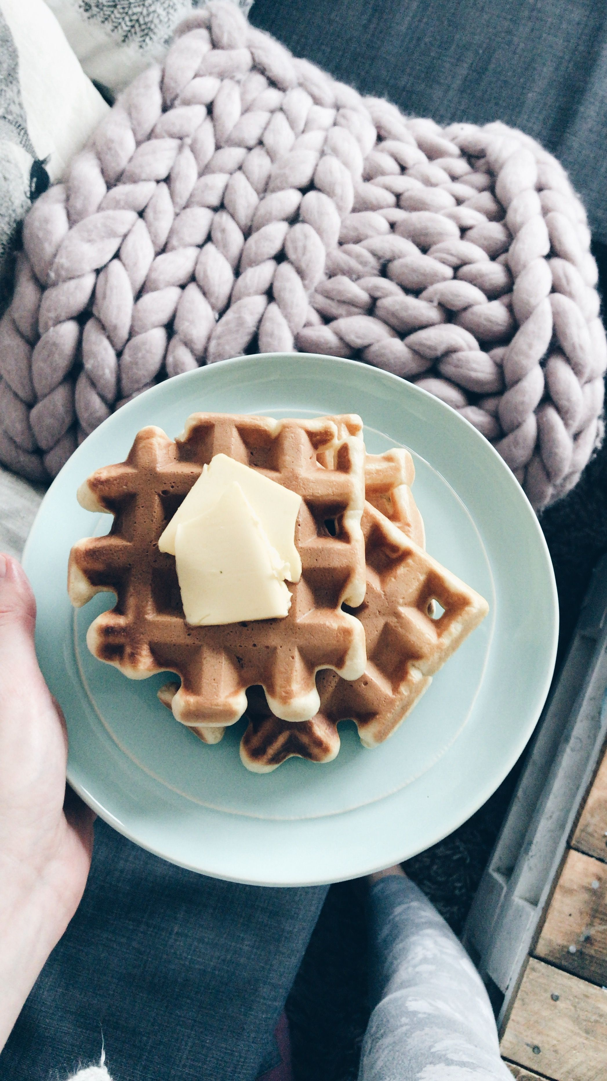 Pin by Kelly White on yum! Morning coffee, Food, Waffles