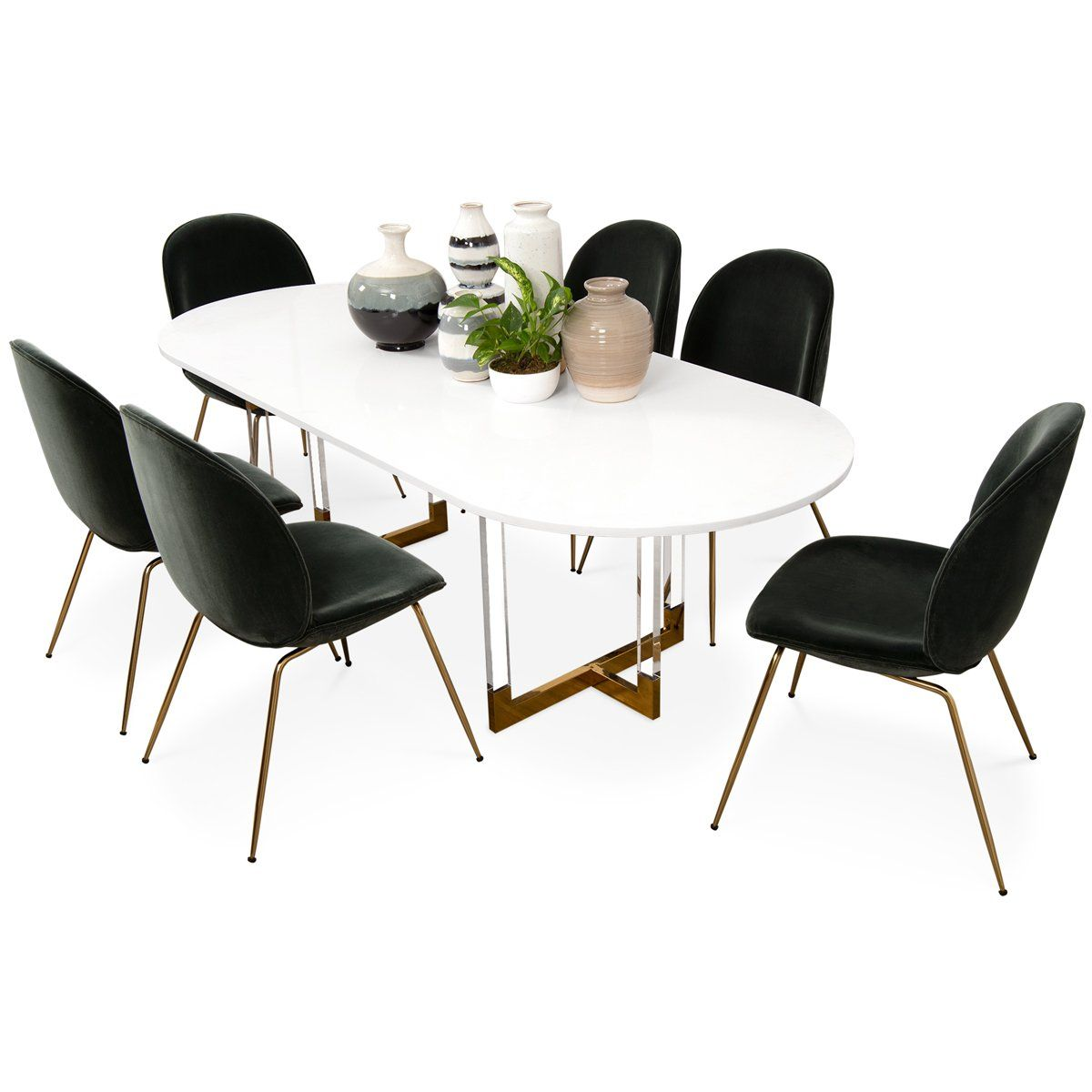 Trousdale 2 Oval Dining Table In Quartz Oval Table Dining Dining Table Oval Dining Room Table