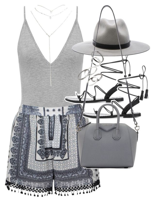 """""""Outfit for summer with a bodysuit"""" by ferned on Polyvore featuring Ally Fashion, Wet Seal, Anine Bing, rag & bone, Givenchy and MANGO"""