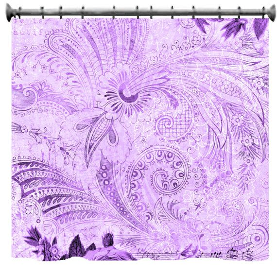 Bohemian Lavender Vintage Floral Shower Curtain 69 by susanakame1 ...