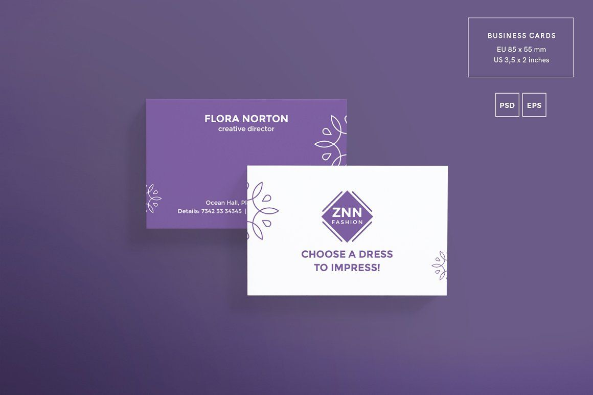 Print Pack | Choose a Dress | Business cards, Card templates and ...