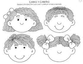 Fichas Infantiles Caritas para colorear e imprimir  Im a