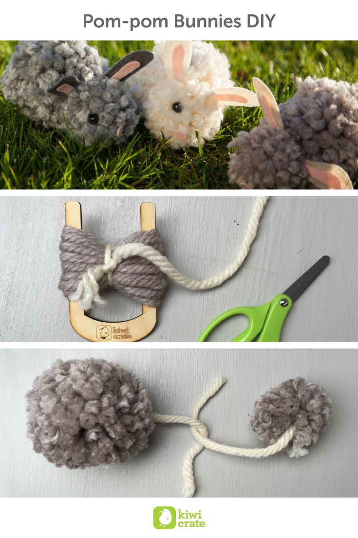 pom pom bunnies diy there 39 s nothing sweeter in the spring than fuzzy little animals even. Black Bedroom Furniture Sets. Home Design Ideas