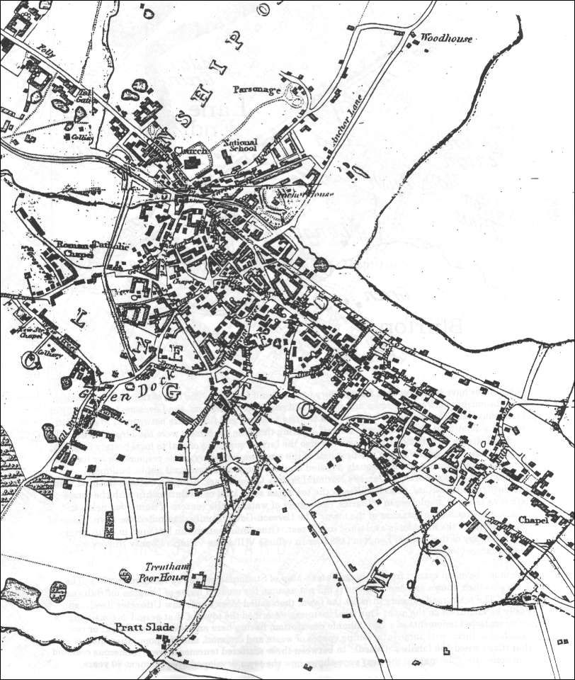 Thomas Hargreaves map Lane End and Longton in 1832 The 5 Towns